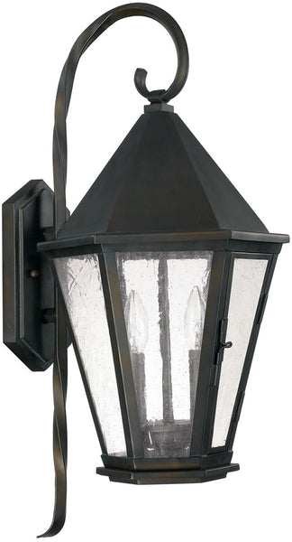 Spencer 2-Light Outdoor Wall Lantern Old Bronze
