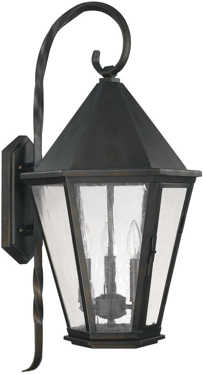 Spencer 3-Light Outdoor Wall Lantern Old Bronze
