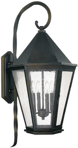 Capital Lighting Spencer 4-Light Outdoor Wall Lantern Old Bronze 9629OB