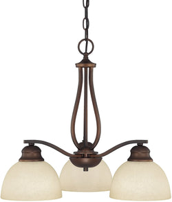 Capital Lighting Stanton 3-Light Chandelier Burnished Bronze 4034BB207