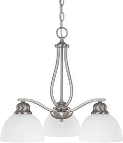 Capital Lighting Stanton 3-Light Chandelier Brushed Nickel 4034BN212
