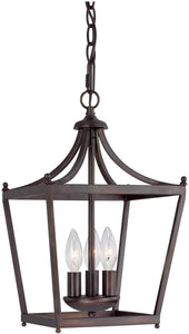 Capital Lighting Stanton 3-Light Chandelier Burnished Bronze 4036BB