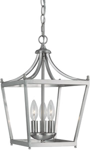 Capital Lighting Stanton 3-Light Chandelier Brushed Nickel 4036BN