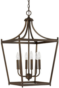 Capital Lighting Stanton 6-Light Foyer  Burnished Bronze 9552BB