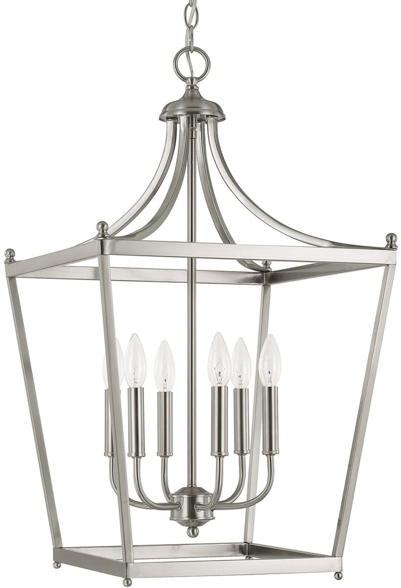 Stanton 6 Light Foyer Brushed Nickel