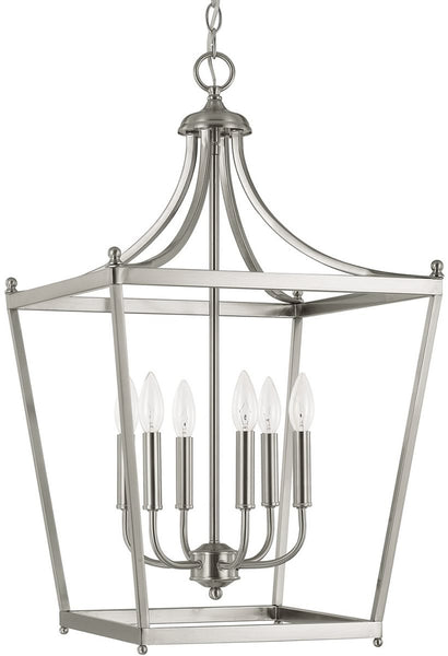 Capital Lighting Stanton 6-Light Foyer  Brushed Nickel 9552BN