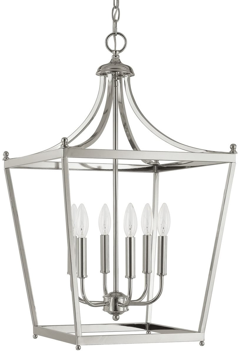 Stanton 6-Light Foyer  Polished Nickel