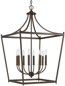 Stanton 8-Light Foyer  Burnished Bronze