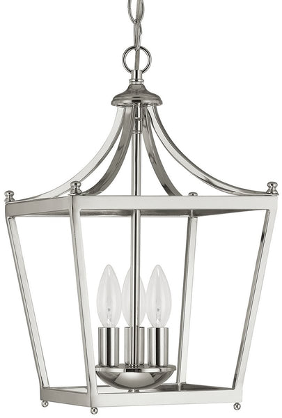 Capital Lighting Stanton 3-Light Foyer  Polished Nickel 4036PN
