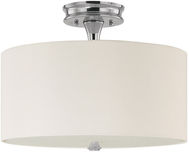 "15""w Studio 3-Light Semi-Flush Polished Nickel"