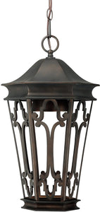 "11""w Townsende 1-Light Outdoor Hanging Lantern Old Bronze"