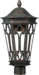 Capital Lighting Townsende 1-Light Outdoor Post Mount Old Bronze 9445OB