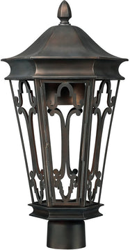 "21""H Townsende 1-Light Outdoor Post Mount Old Bronze"