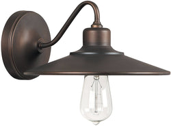 Capital Lighting Urban 1-Light Sconce (Lamps Not Included) Burnished Bronze 4191BB