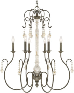 Capital Lighting Vineyard 6-Light Chandelier French Country 410362FC