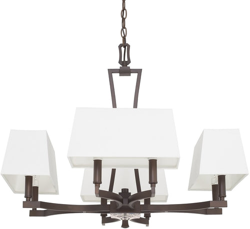 Capital Lighting Westbrook 8-Light Chandelier Burnished Bronze 410181BB657