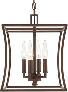 Westbrook 4-Light Foyer Burnished Bronze