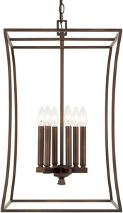 Capital Lighting Westbrook 6-Light Foyer Burnished Bronze 510161BB