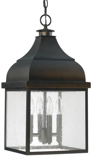 Capital Lighting Westridge 4-Light Outdoor Hanging Lantern Old Bronze 9646OB