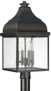 Capital Lighting Westridge 4-Light Outdoor Post Lantern Old Bronze 9645OB