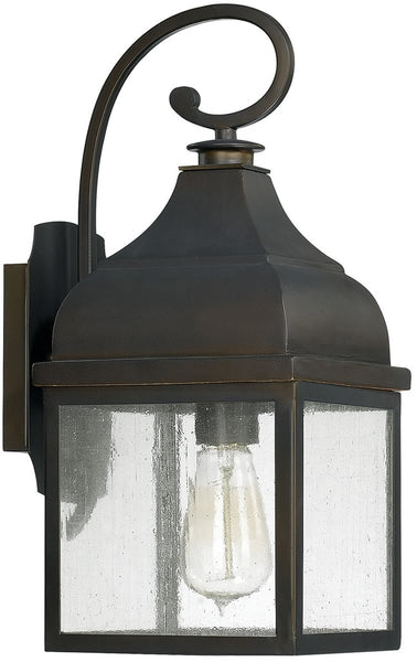 Capital Lighting Westridge 1-Light Outdoor Wall Lantern Old Bronze 9641OB