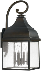 Capital Lighting Westridge 4-Light Outdoor Wall Lantern Old Bronze 9643OB