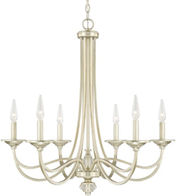 Capital Lighting Windsor 6-Light Chandelier Soft Gold 413861SF