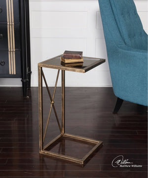 "25""H Zafina Gold Side Table"
