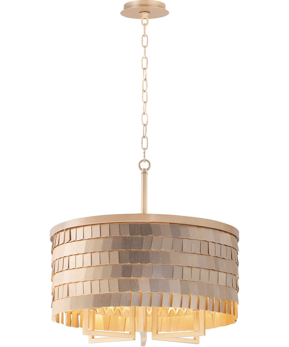 "20""W Glamour 6-Light Pendant Champagne / Gold"