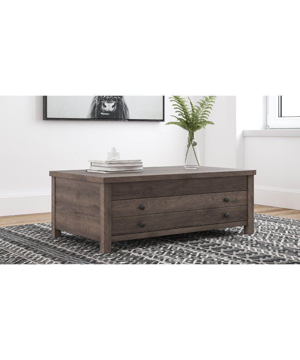 "17""H Arlenbry Rect Lift Top Cocktail Table Gray"