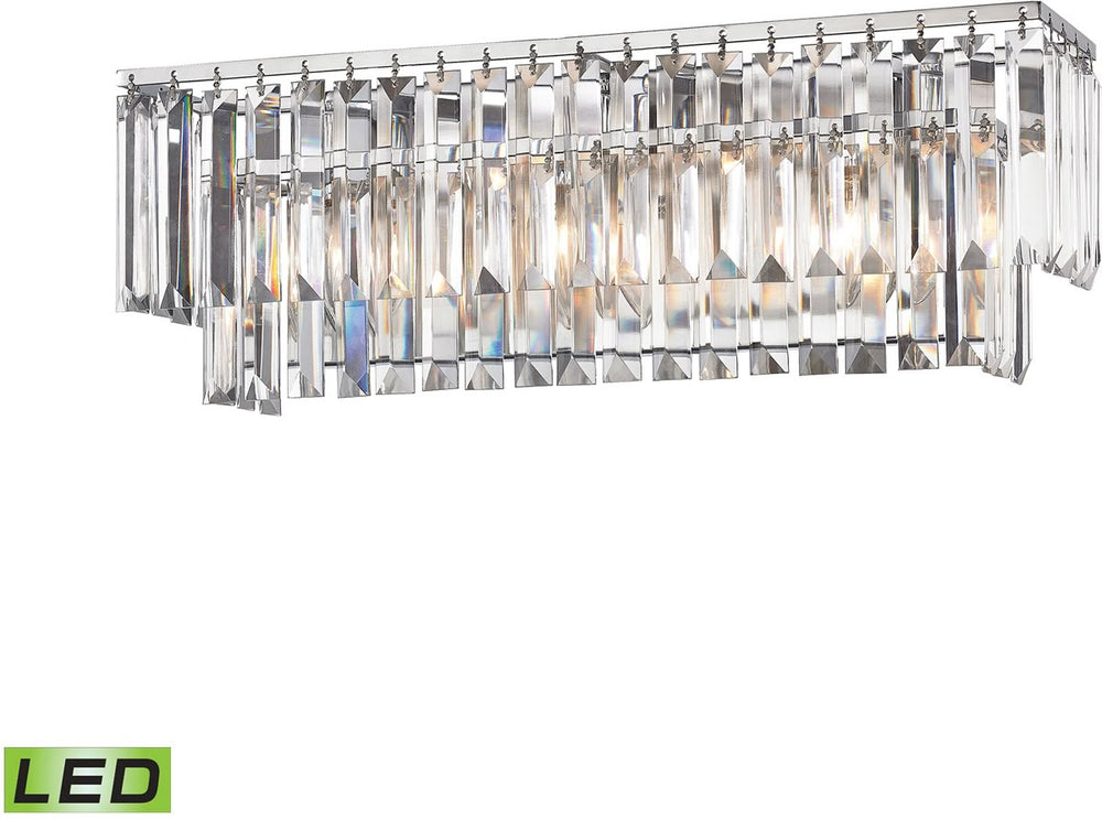 "21""W Palacial 3-Light LED Vanity Polished Chrome"