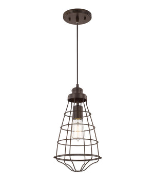 "8""W Daudin 1-Light Pendant Burnished Bronze"