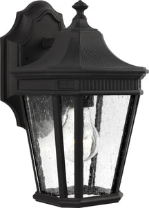0-002100>Cotswold Lane 1-Light Wall Lantern Black