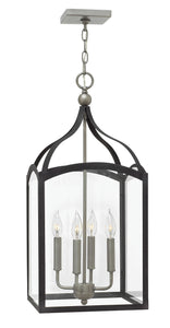 Clarendon 4-Light Single Tier Foyer in Aged Zinc