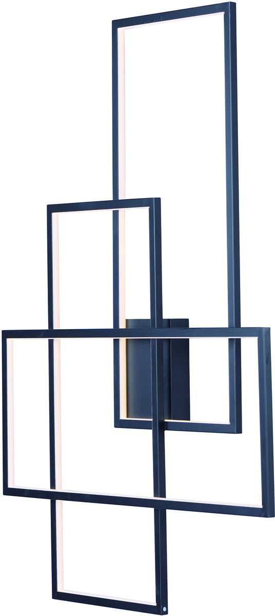 Converge LED  Wall Sconce Black