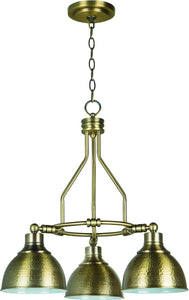 Timarron 3-Light Down Chandelier Legacy Brass