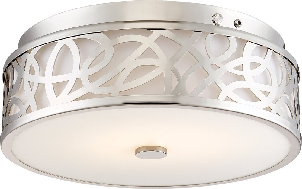 "14""W 1-Light LED Brushed Nickel"