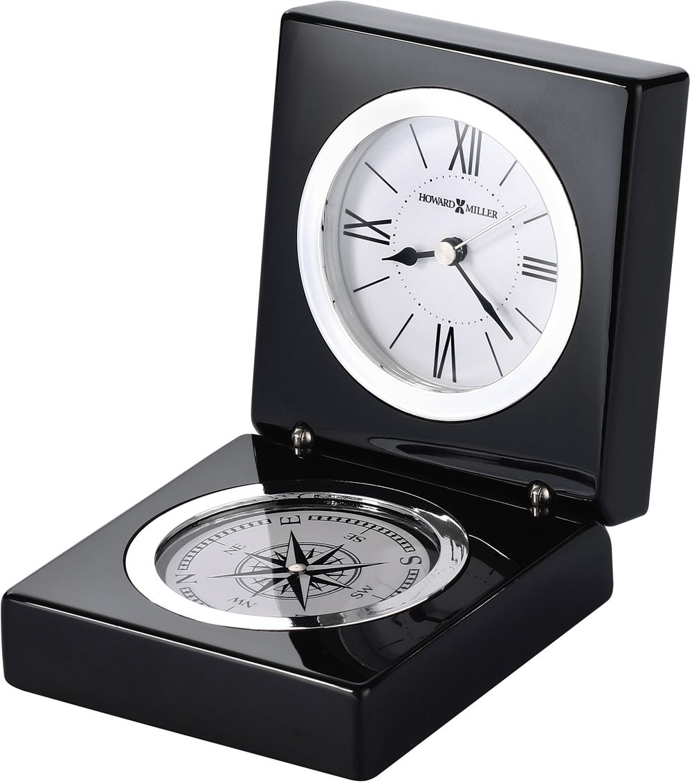 "2""H Endeavor Tabletop Clock Black Piano"