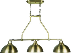 Timarron 3-Light Island Pendant Light Legacy Brass