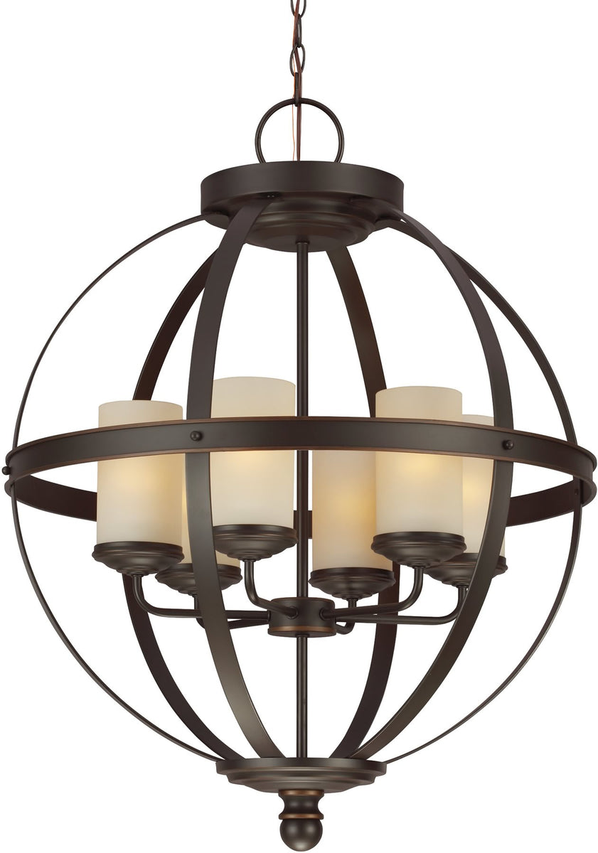 "25""W Sfera 6-Light Single-Tier Chandelier Autumn Bronze"