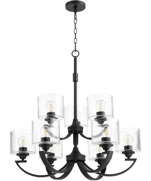 "30""W Dakota 9-light Chandelier Noir"