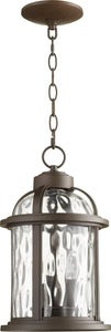 Winston 3-light Outdoor Pendant Light Oiled Bronze