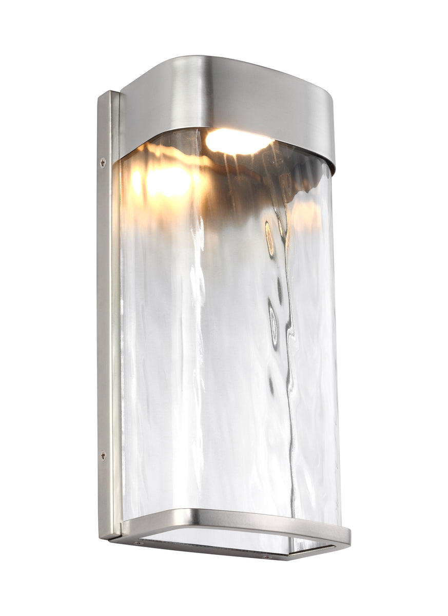 "12""H Bennie 1-Light LED Outdoor Wall Lantern Painted Brushed Steel"