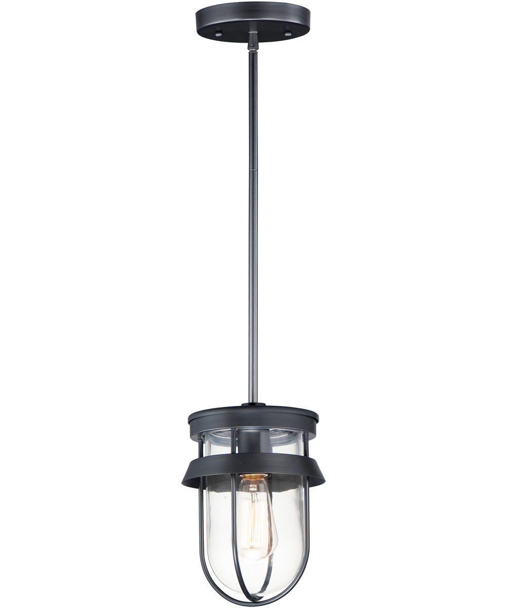 Breakwater 1-Light Outdoor Pendant / Semi-Flush Black