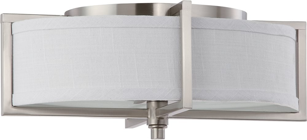"11""W Portia 2-Light Close-to-Ceiling Brushed Nickel"