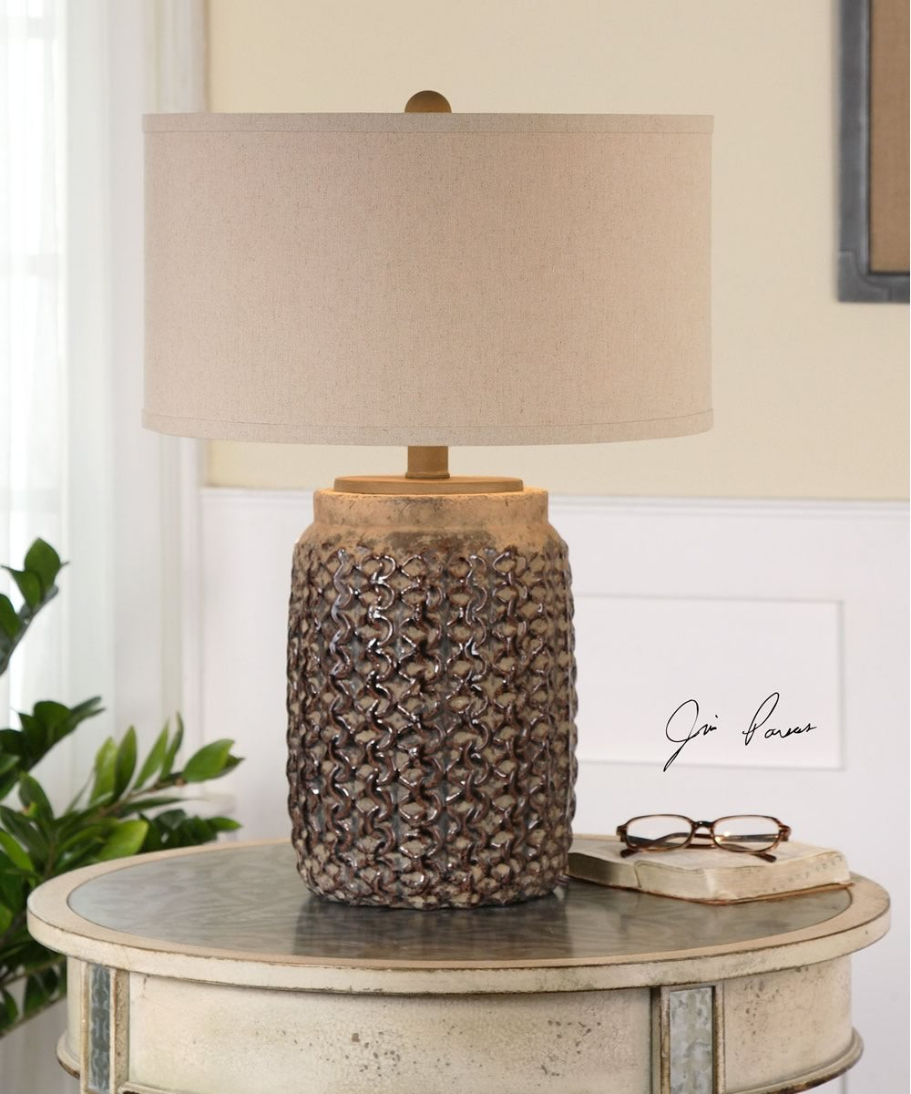 "24""H Bucciano Textured Ceramic Table Lamp"