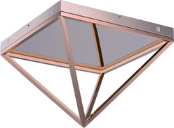 0-002070>Pyramid LED Flush Mount Rose Gold