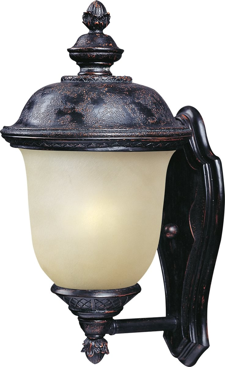 "16""H Carriage House LED 1-Light Outdoor Wall Lantern Oriental Bronze"