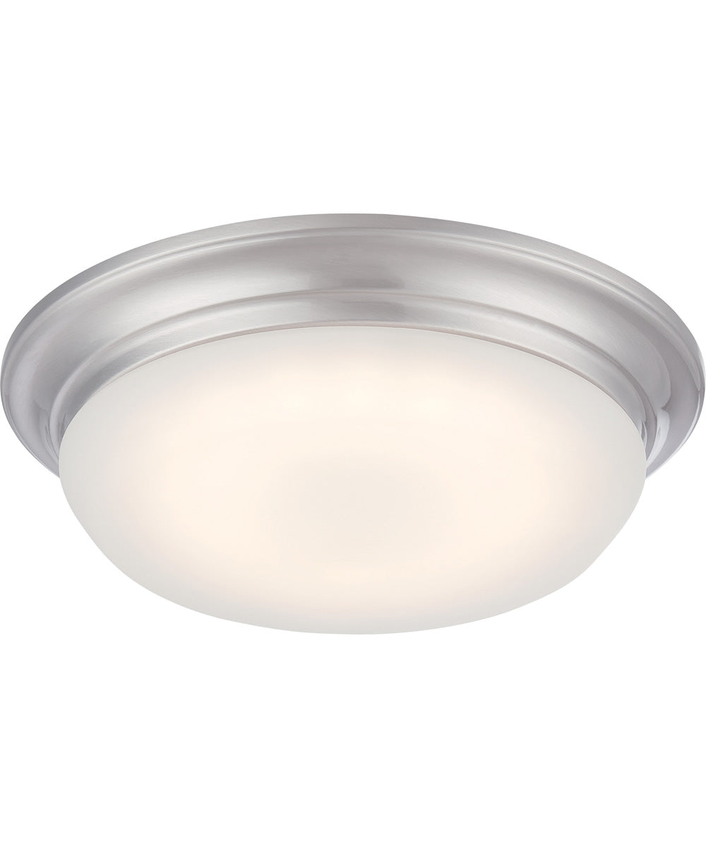 "11""W Libby 1-Light Close-to-Ceiling Brushed Nickel"