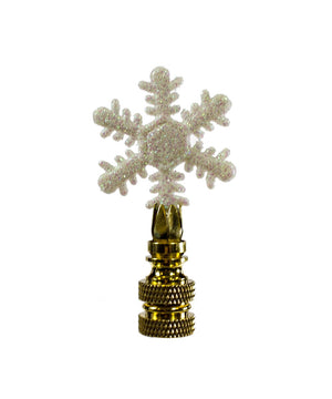 "3""H Winter Snowflake  Finial"